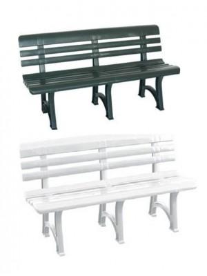 Panca Panchina Olimpia in Plastica Polipropilene per Esterno Giardino Terrazzo 150 (L) x 53 (P) x 73 (A)