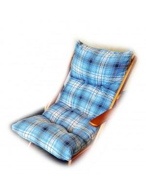 CUSCINO IMBOTTITO di RICAMBIO per poltrona sedia sdraio HARMONY RELAX, 105x55x14cm (Blu)
