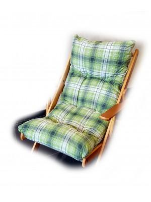 CUSCINO IMBOTTITO di RICAMBIO per poltrona sedia sdraio HARMONY RELAX, 105x55x14cm-Verde