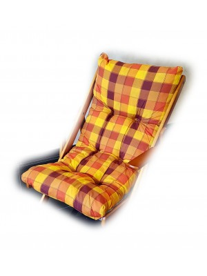 CUSCINO IMBOTTITO di RICAMBIO per poltrona sedia sdraio HARMONY RELAX, 105x55x14cm (Giallo / Arancione)