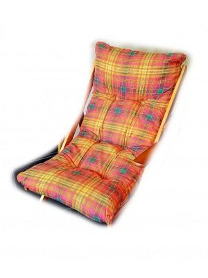 CUSCINO IMBOTTITO di RICAMBIO per poltrona sedia sdraio HARMONY RELAX, 105x55x14cm-Rosso / Arancione