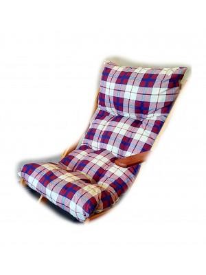 CUSCINO IMBOTTITO di RICAMBIO per poltrona sedia sdraio HARMONY RELAX, 105x55x14cm (Bordeaux)