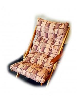 cuscino imbottito sedia sdraio harmony marrone