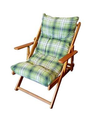 Poltrona Sedia Sdraio Harmony Relax in Legno Pieghevole 3 Posizioni (Verde)