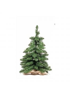 Albero Alberetto di Natale pino piccolo artificiale realistico verde basso pinetto 60 cm Timmy Xone