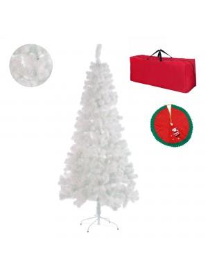 Albero di natale innevato bianco folto con borsone borsa e copri base omaggio regalo Totò Piccinni