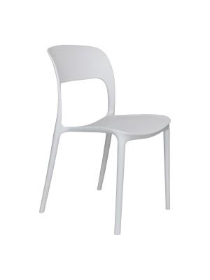 Prospettiva Sedia Omega in Polipropilene Moderne Design Impilabile bianca totò piccinni