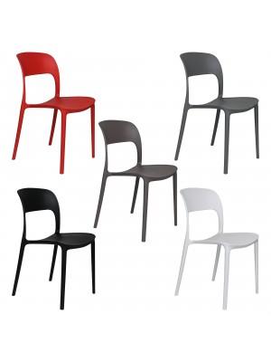 Sedia Omega in Polipropilene Moderne Design Impilabile
