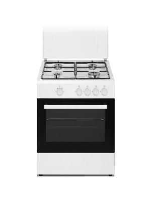 DAYA Cucina a Gas a 4 fuochi 60 x 60 con Forno Elettrico DSGC-6060E