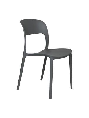 Prospettiva Sedia Omega in Polipropilene Moderne Design Impilabile grigio totò piccinni