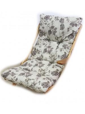 cuscino imbottito sedia sdraio harmony grigio floreale