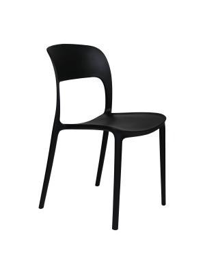 Prospettiva Sedia Omega in Polipropilene Moderne Design Impilabile nero totò piccinni
