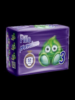Pannolini Bimbo Pillo Premium Midi, Taglia 3 (4-9 Kg)