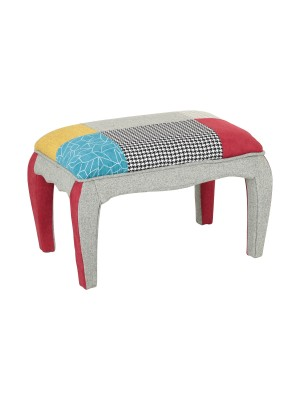 Pouf CARNAVAL in Tessuto Design Patchwork Imbottito (Pouf)