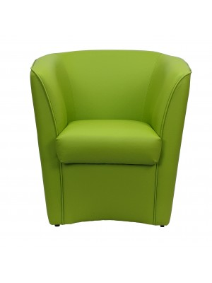 Poltrona a POZZETTO Ecopelle, Made in Italy (Verde Pistacchio)