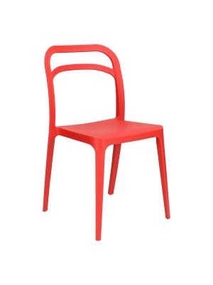 Sedia VIP in Polipropilene Moderna Design Impilabile (Rosso)