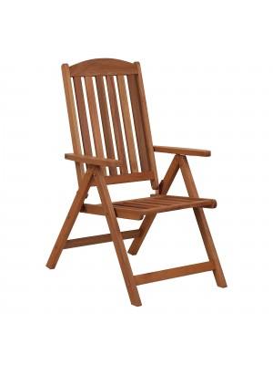 Sedia Sdraio MARY da giardino reclinabile 7 posizioni in legno di Eucalipto (Legno)