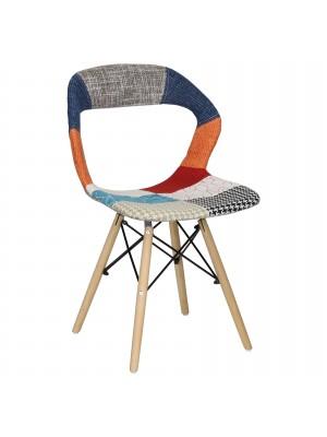 Sedia Patchwork Confort, Eiffel Design, Ergonomica, Robusta, Gambe Legno Faggio, Alta qualità (Patchwork Hole)