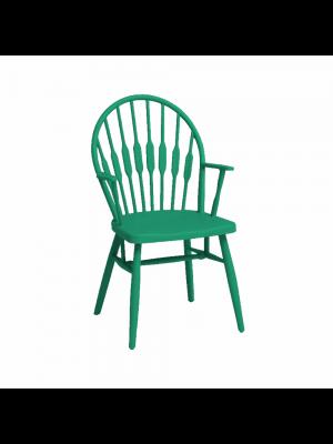 sedia scandinava moderna polipropilene verde