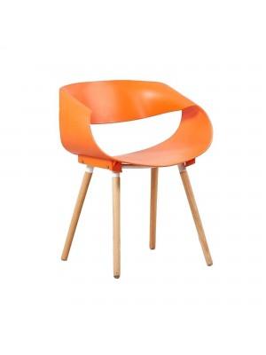 Sedia di Design Moderna in Polipropilene (Arancione)