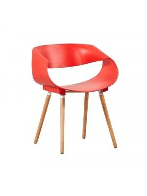 Sedia di Design Moderna in Polipropilene (Rosso)