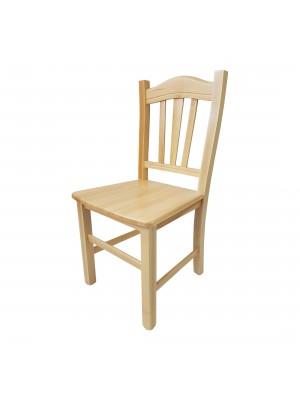 Vista diagonale di una sedia legno paesana Silvana artigianale colore Naturale Totò Piccinni