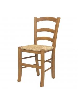 Sedia paesana VENEZIA in legno di faggio, ALTISSIMA QUALITA', robusta, già montata (Rovere, Seduta Paglia)