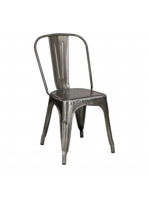 Prospettiva Sedia in metallo industry stile design industriale silver Tolix Totò Piccinni