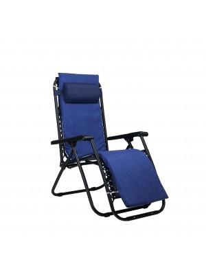 Sedia GRAVITY Gravità Zero con cuscino e poggia piedi (Blu, con Materassino)