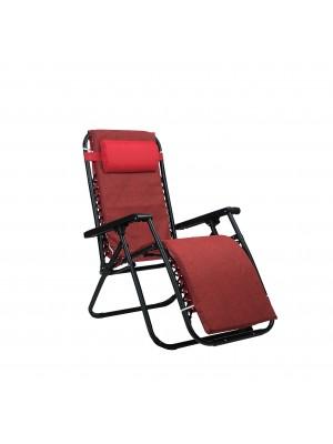 Sedia GRAVITY Gravità Zero con cuscino e poggia piedi (Rosso, con Materassino)
