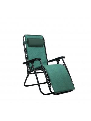 Sedia GRAVITY Gravità Zero con cuscino e poggia piedi (Verde, con Materassino)