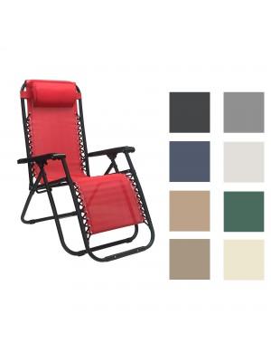 Sedia GRAVITY Gravità Zero con cuscino e poggia piedi reclinabile comoda ripiegabile