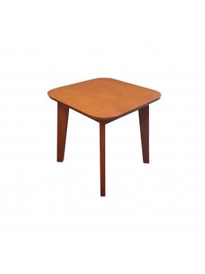 Vista diagonale di un tavolino portatelefono da salotto in legno di faggio ponente levante