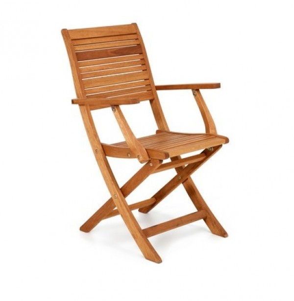 sedia con braccioli in legno california