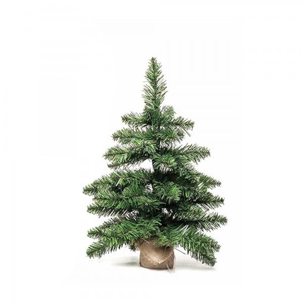 Alberetto Albero di natale artificiale basso pino folto 45 cm verde base in tela pinetto Timmy Xone