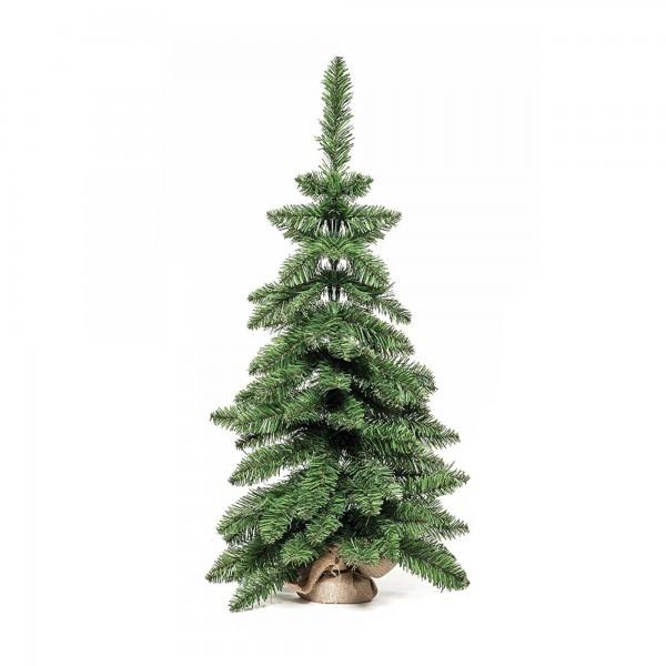 Albero Alberetto di Natale pino piccolo realistico in pvc e pp 90 cm base in tela pinetto Timmy Xone