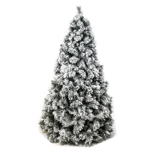 Albero di Natale artificiale molto folto innevato bianco verde super realistico PP PVC Carey Xone