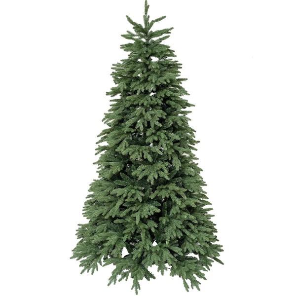 Albero di Natale artificiale realistico molto folto in PE real touch verde Kennedy Xone