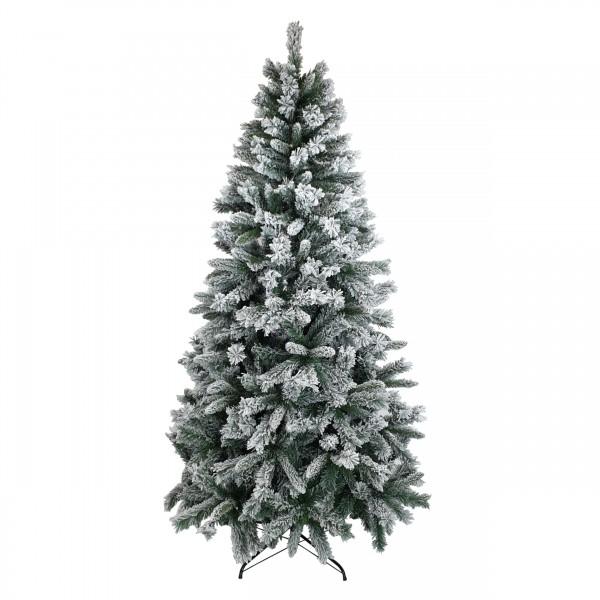Albero di Natale Innevato verde  Bianco Berna con Fiocchi di Neve Artificiale Totò Piccinni