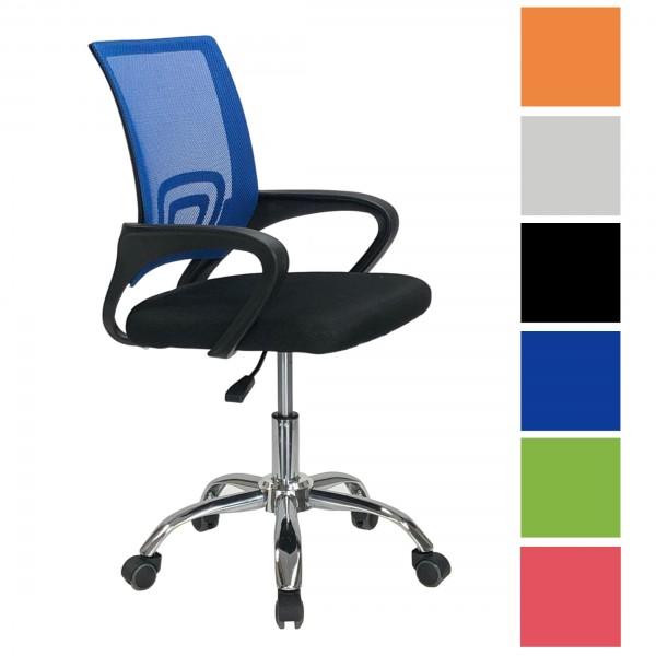 Copertina di una sedia ufficio girevole con braccioli ad altezza regolabile e seduta ergonomica disponibile in varie colorazioni Aquarius Totò Piccinni