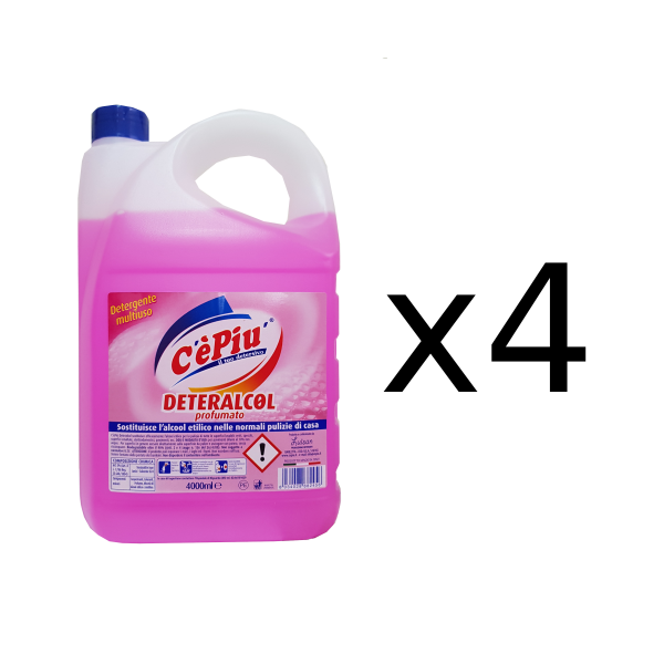 deteralcol alcool pulizia 4 litri