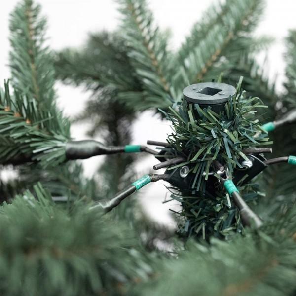 Rami verdi con meccanismo ad ombrello di un albero di Natale realistico Kennedy Xone