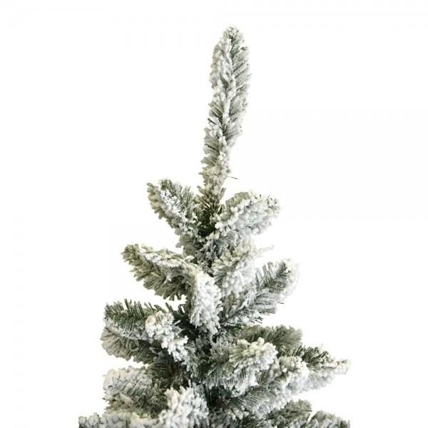 Punta e puntale in pvc e PE real touch innevato da fiocchi di neve bianchi di un albero realistico Dimitri Xone Slim