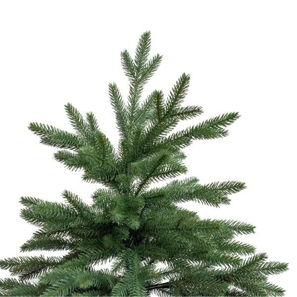 Dettaglio della punta e puntale in pp PE real touch realistici di un albero di Natale Kennedy Xone