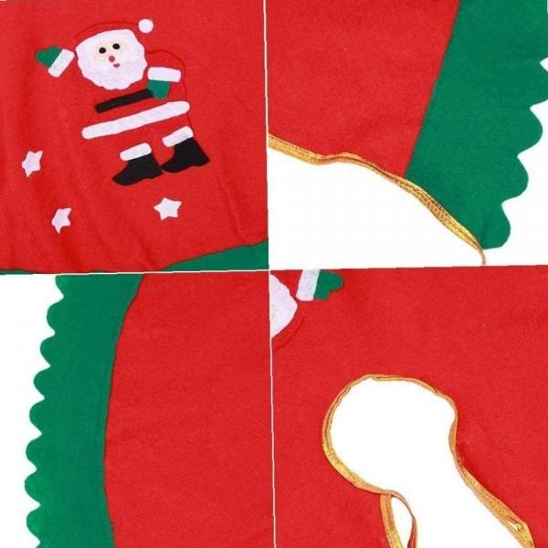 Dettaglio del Copri Base per Albero di Natale Totò Piccinni decorato con Babbo Natale