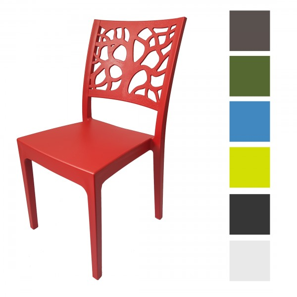 Sedia Teti design impilabile da interno esterno
