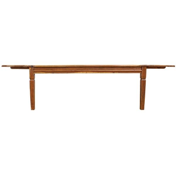 Tavolo allungabile aperto n legno massello di acacia indiana stile rustico campagnolo Chateaux Bizzotto