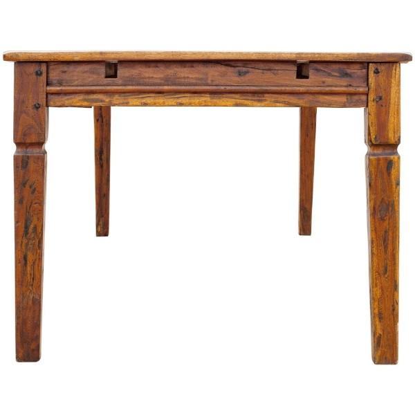 Lato di un tavolo allungabile in legno massello di acacia indiana stile rustico campagnolo Chateaux Bizzotto